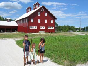 Hikers-w-sticksCreek-Bend-Farm-7-13-07